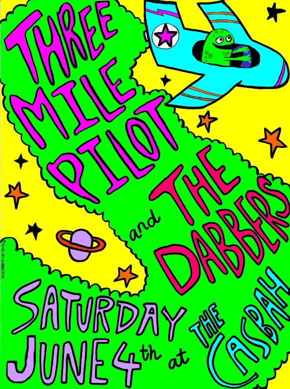 Dabbers poster with three mile pilot